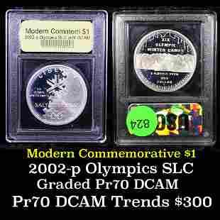 Proof 2002-P Olympics Modern Commem Dollar $1 Graded