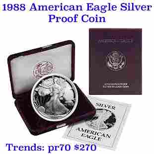 1988-s 1 oz .999 fine Proof Silver American Eagle orig