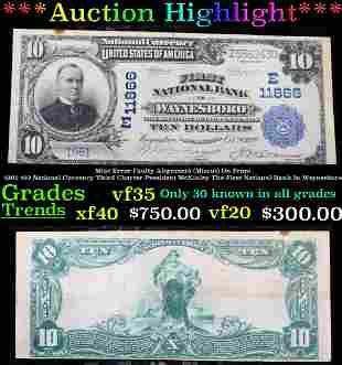 ***Auction Highlight*** 1902 $10 National Currency