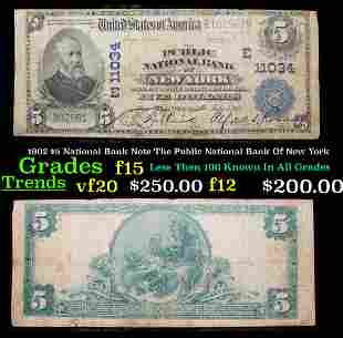 1902 $5 National Bank Note The Public National Bank Of