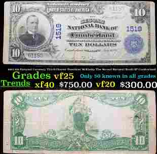 1902 $10 National Currency Third Charter President
