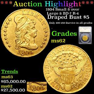 *Highlight* 1804 Small 8 over Large 8 BD-7 R-4 Draped