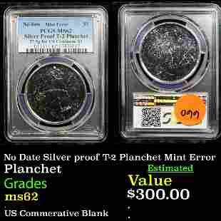 No Date Silver proof T-2 Planchet Mint Error Planchet