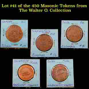 Lot #41 of the 450 Masonic Tokens from The Walter O.