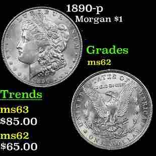 1890-p Morgan Dollar $1 Grades Select Unc