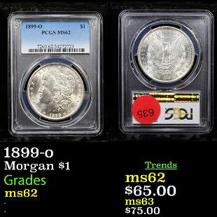 PCGS 1899-o Morgan Dollar $1 Graded ms62 By PCGS