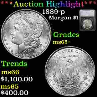 ***Auction Highlight*** 1889-p Morgan Dollar $1 Graded