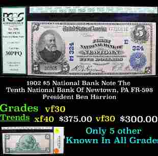 1902 $5 National Bank Note The Tenth National Bank Of