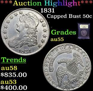 ***Auction Highlight*** 1831 Capped Bust Half Dollar