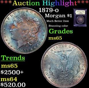 ***Auction Highlight*** 1879-o Morgan Dollar $1 Graded