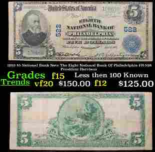 1902 $5 National Bank Note The Eight National Bank Of