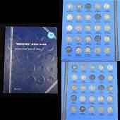 Near Complete Mercury Dime Book 1916-1936 43 coins