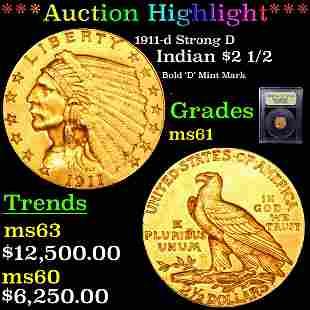 *Highlight* 1911-d Strong D Denver Indian $2 1/2