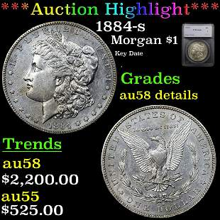 *Highlight* 1884-s Morgan $1 Graded au58 details