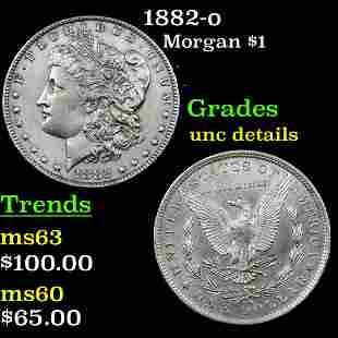 1882-o Morgan $1 Grades Unc Details