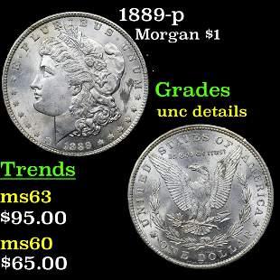 1889-p Morgan $1 Grades Unc Details
