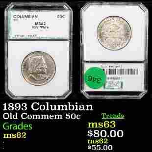 1893 Columbian Old Commem 50c Graded