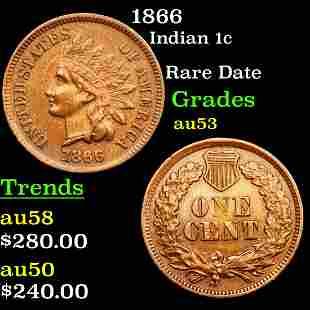 1866 Indian 1c Grades Select AU