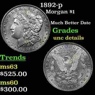 1892-p Morgan $1 Grades Unc Details