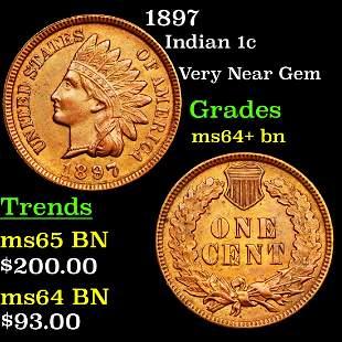 1897 Indian 1c Grades Choice+ Unc BN