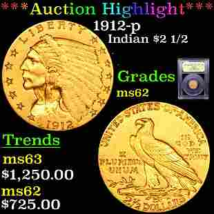 *Highlight* 1912-p Indian $2 1/2 Graded Select Unc