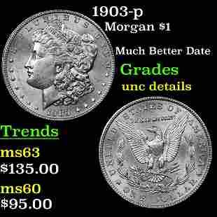 1903-p Morgan $1 Grades Unc Details