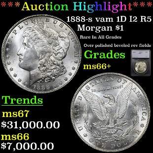*Highlight* 1888-s vam 1D I2 R5 Morgan $1 Graded ms66+