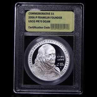 2006-P Ben Franklin Founding Father Proof Commem $1