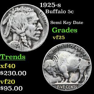 1925-s Buffalo 5c Grades vf+