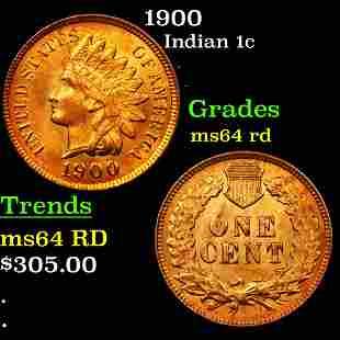 1900 Indian 1c Grades Choice Unc RD