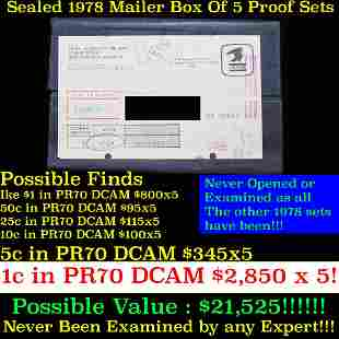 Original sealed box 5- 1978 United States Mint Proof