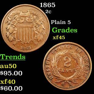 1865 2c Grades xf+