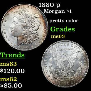 1880-p Morgan $1 Grades Select Unc