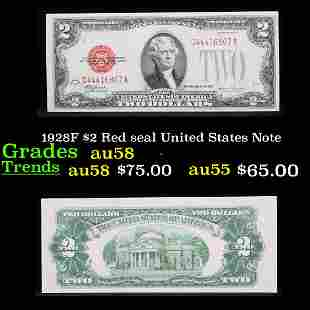 1928F $2 Red seal United States Note Grades Choice