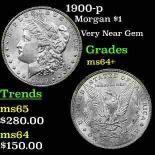 1900-p Morgan $1 Grades Choice+ Unc