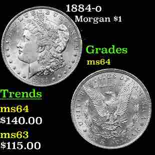 1884-o Morgan $1 Grades Choice Unc