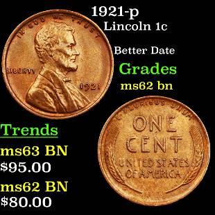 1921-p Lincoln 1c Grades Select Unc BN