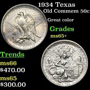 1934 Texas Old Commem 50c Grades GEM+ Unc