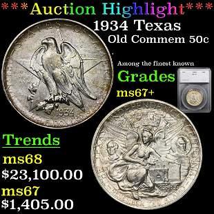 *Highlight* 1934 Texas Old Commem 50c Graded ms67+