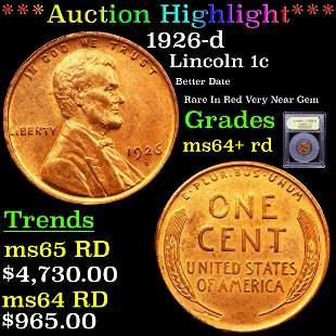 *Highlight* 1926-d Lincoln 1c Graded Choice+ Unc RD