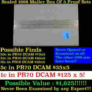 Original sealed box 5- 1998 United States Mint Proof