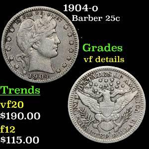 1904-o Barber 25c Grades vf details