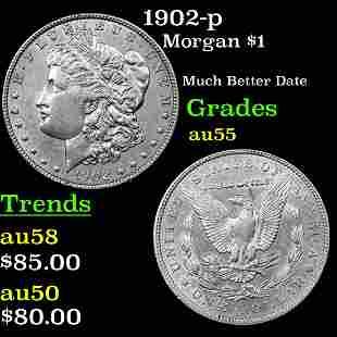 1902-p Morgan $1 Grades Choice AU