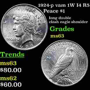 1924-p vam 1W I4 R5 Peace $1 Grades Select Unc