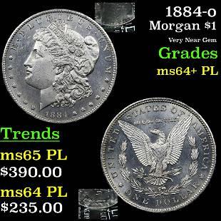 1884-o Morgan $1 Grades Choice Unc+ PL
