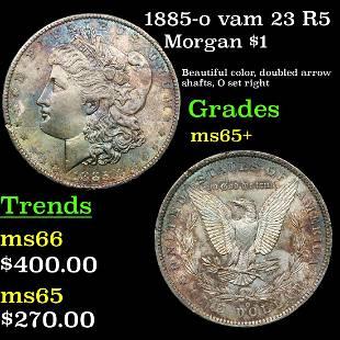 1885-o vam 23 R5 Morgan $1 Grades GEM+ Unc