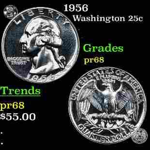 1956 Washington 25c Grades GEM++ Proof