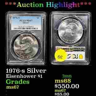 *Highlight* 1976-s Silver Eisenhower $1 Graded ms67