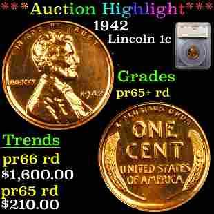 *Highlight* 1942 Lincoln 1c Graded pr65+ rd