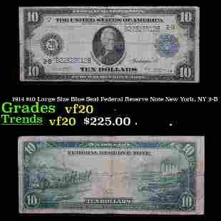 1914 $10 Large Size Blue Seal Federal Reserve Note New